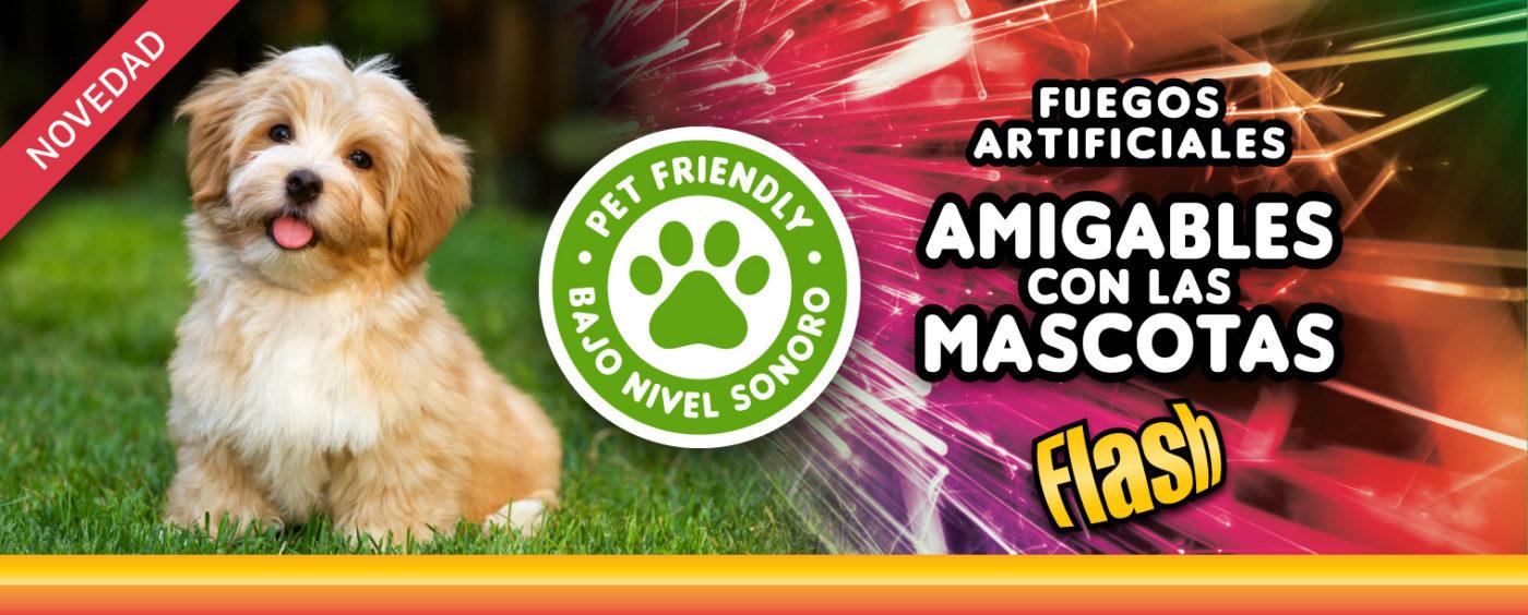 Pirotecnia y Fuegos artificiales y amigables con las mascotas.